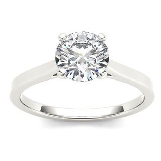 De Couer 14k Gold 1ct TDW Diamond Effulgent Engagement Ring (H-I, I2)