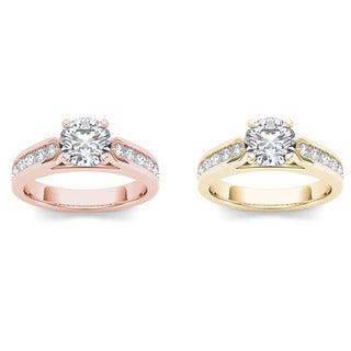 De Couer 14k Gold 1 1/4ct TDW Diamond Efficacious Engagement Ring (H-I, I2)