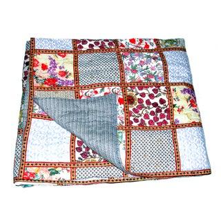 Organic Cotton Block Print Patchwork Quilt