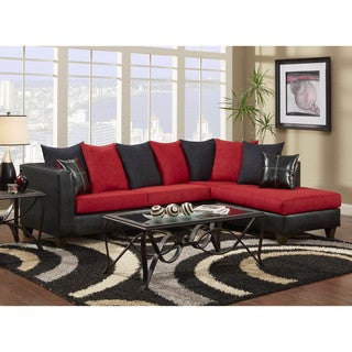 LYKE Home Patrice Red Sectional