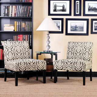 Better Living Niles Grey Medallion Armless Chairs (Set of 2)