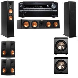 Klipsch RP-260F -PL-200-5.2-Onkyo TX-NR838 Tower Speakers