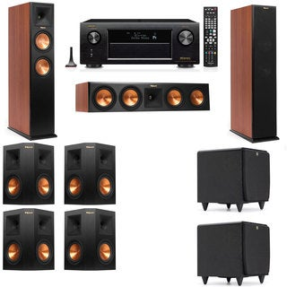 Klipsch RP-260F CH-SDS12-7.2-Denon AVR-X4100W Tower Speakers