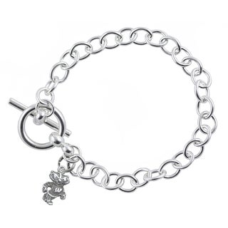 Wisconsin Sterling Silver Link Bracelet