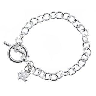UNC Sterling Silver Link Bracelet