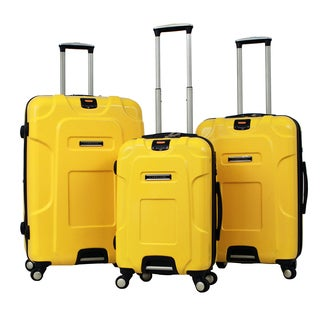 Gabbiano Armor Polycarbonate 3-piece Yellow Expandable Hardside Spinner Set