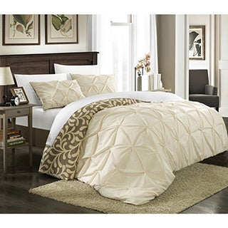 Chic Home 3-Piece Talitha Pleated Reversible Duvet Cover Set