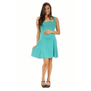24/7 Comfort Apparel Women's Abstract Maternity Neckline Sheath Dress