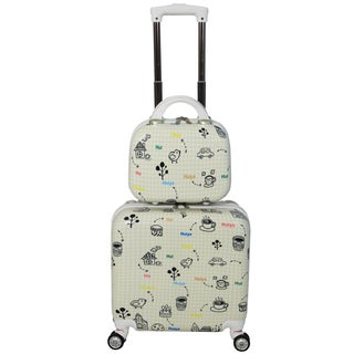 World Traveler Bari 2-piece Hardside Weekender Carry On Spinner Luggage Set