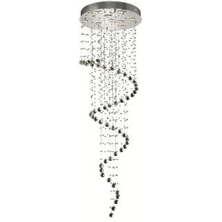 Elegant Lighting 10-light Chrome 24-inch Royal Cut Crystal Clear Large Hanging Fixture