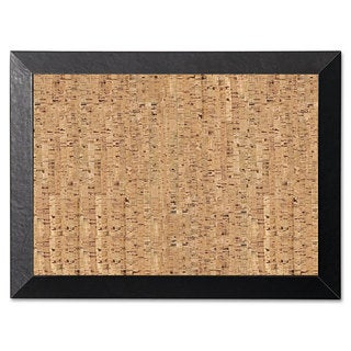 MasterVision Natural 36 x 24 Cork/Black Bulletin Board