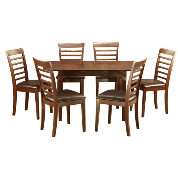 Mahogany Kitchen TableA Leaf And 6 Kitchen Chairs 7 Piece