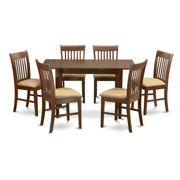 mahogany leaf and 6 dining room chairs 7 piece dining set overstock