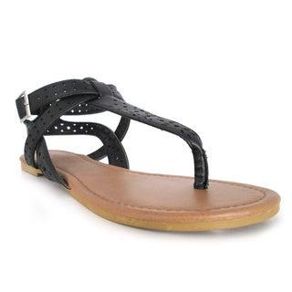 Olivia Miller 'Gaia' Multi Strap Cut Out Gladiator Sandals