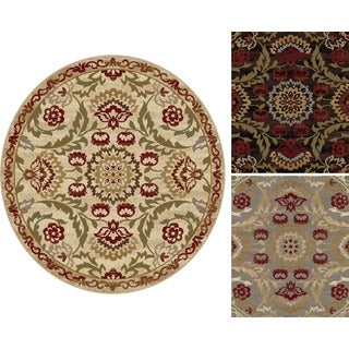 Alise Infinity Floral Area Rug (5'3 Round)