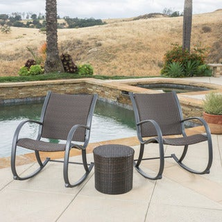 Christopher Knight Home Gracie's Outdoor 3-piece Wicker Bistro Set