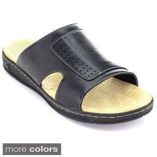 Rocus JF1-30 Men's Casual Cut-Out Slip-On Sport Sandals