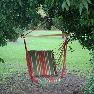Trellis Garden Stripe Cushioned Single Swing (Stand Not Included)