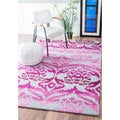 nuLOOM Contemporary Handmade Ikat Fancy Abstract Rug (5' x 8')