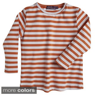 Prima Girls' Cotton Striped Cool Jersey Knit Top
