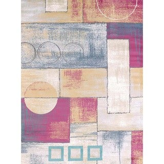 Structures Block and Cirlce Area Rug (7'10 x 10'6')