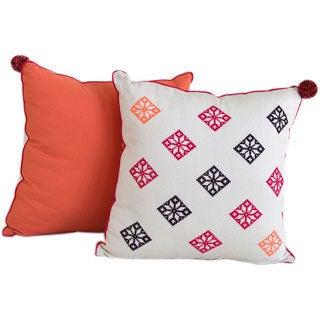Fiori Freschezza Hand-Embroidered Decorative Pillow