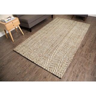 Sandscape Natural Jute Handwoven Rug (5'x 8')