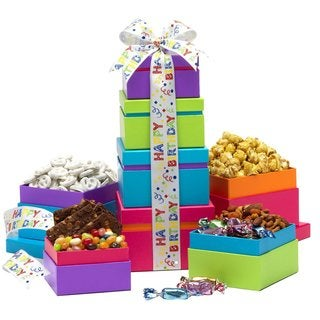 Happy Birthday Food Gift Tower