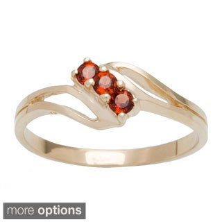 10k Yellow Gold 3-stone Birthstone Ring