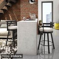 Amisco Render 26-inch Swivel Metal Counter Stool