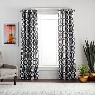 Lush Decor Edward Blackout Window Curtain Pair