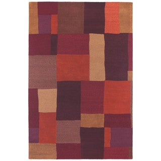 "Moods Chocolate Foundation Patchwork Wool Rug (9'6"" x 13')"