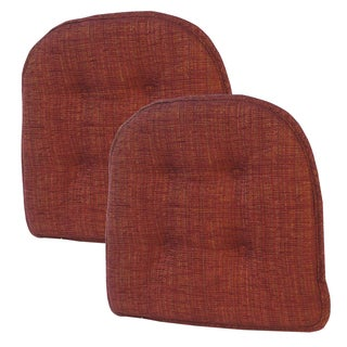 Accord Bing Cherry Tufted Chair Pad (Set of 2)