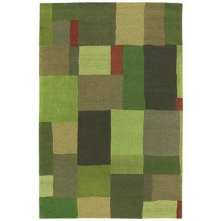 "Moods Avocado Foundation Patchwork Wool Rug (9'6"" x 13')"