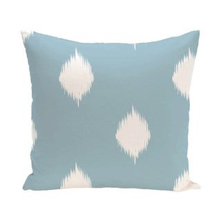 Decorative Holiday Ikat Print 16-inch Pillow