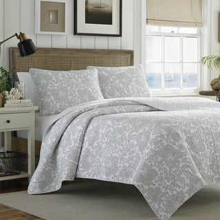 Tommy Bahama Island Memory Gray 3-piece Quilt Set