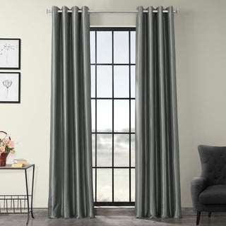 Grommet Blackout Faux Silk Taffeta 96-inch Length Curtain