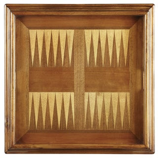 Olive Ash Burl Finish Wood Game Table