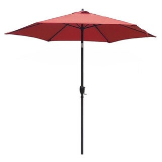 Lauren & Company 9-foot Brick Red Steel Crank and Tilt Market Umbrella