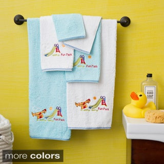 Lucia Minelli Kid's Embroidered Fun Park Design 6-piece Soft Turkish Cotton Towel Set
