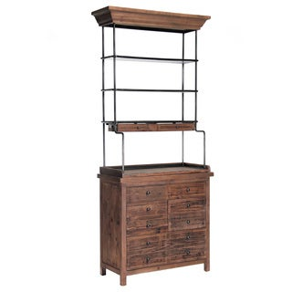 Reclaimed Pine Rack with Storage Base