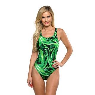 Speedo Women's Kelly Green Vortex Super Pro Back Swimsuit