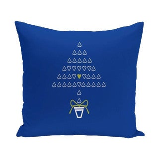 Blue/ Red/ Green Decorative Holiday Print 26-inch Pillow
