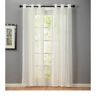 Textured Faux Linen 84-inch Panel Pair