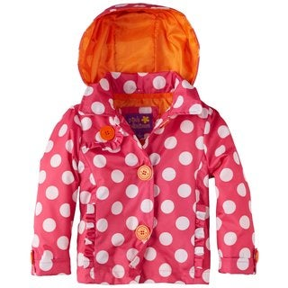 Pink Platinum Toddler Girls Polka Dot Sophia's Trench Jacket