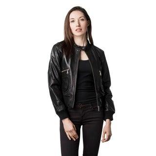 Wilda Women's Janice Black Leather Jacket