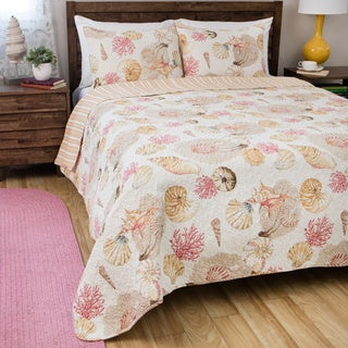 Greenland Home Fashions Castaway Cotton 3-piece Quilt Set