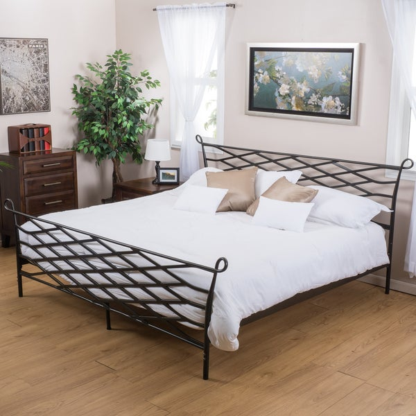 Christopher Knight Home Spellman Iron Bed Frame Overstock Shopping Big Discounts On