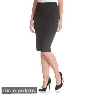 Chelsea & Theodore Women's Ponte Pencil Skirt