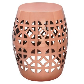 Artisan Copper Garden Stool/ Side Table